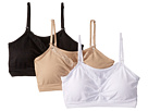 Coobie Strappy V-Neck w/ Lace 3-Pack Neutrals