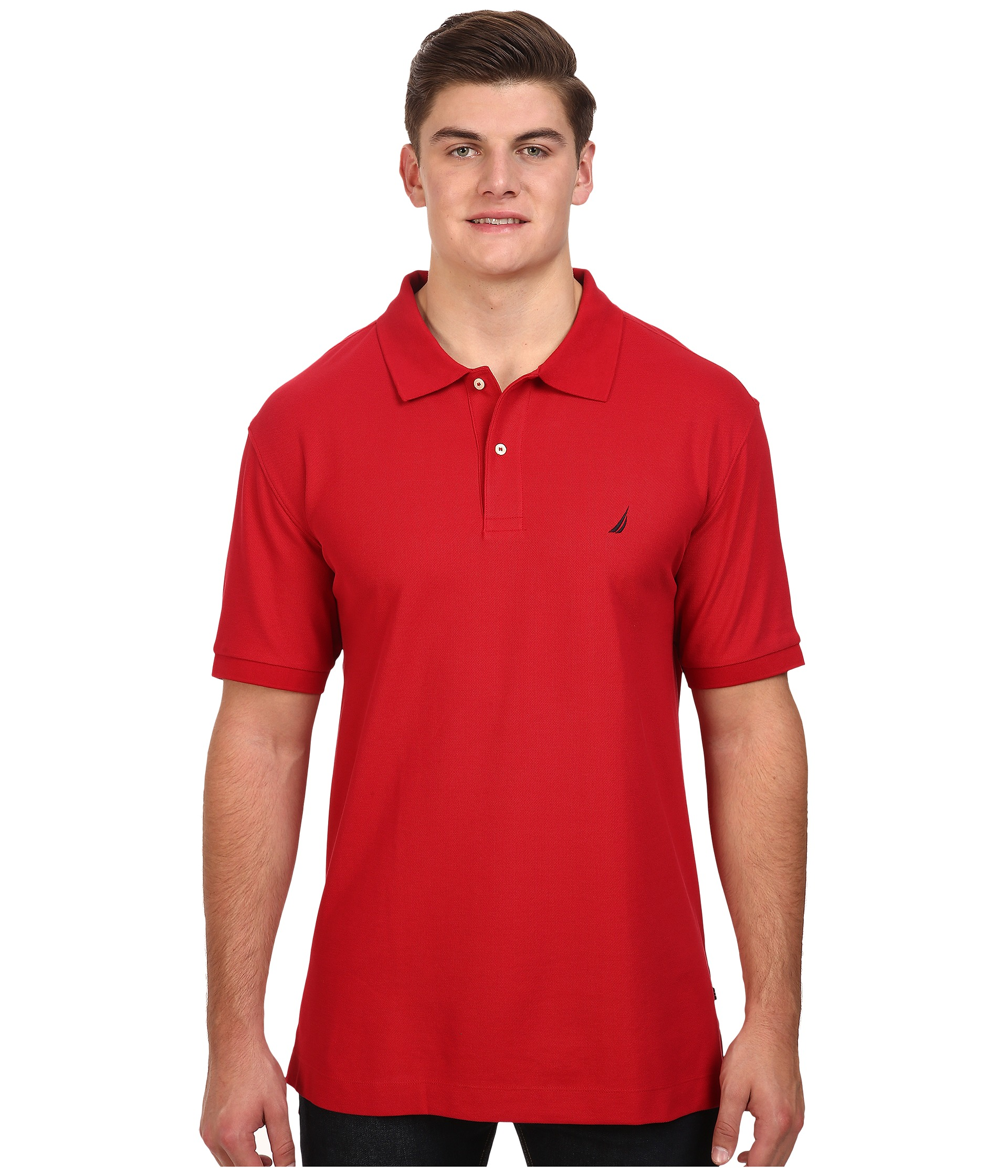 Nautica big tall big tall anchor solid deck shirt at for Nautica shirts on sale