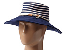 Sperry Top-Sider - Stripe Floppy Hat w/ Canvas Brim (Bright Navy Blue)