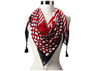 Sperry Top-Sider - Multi Pattern Scarf w/ Tassel (Ribobn Red)