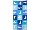 Lacoste - Crocodomino Beach Towel (Blue) - Home