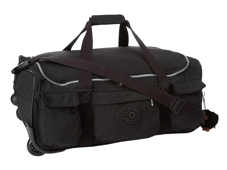 Kipling Discover Small Wheeled Luggage Duffle Black Duffel Bags