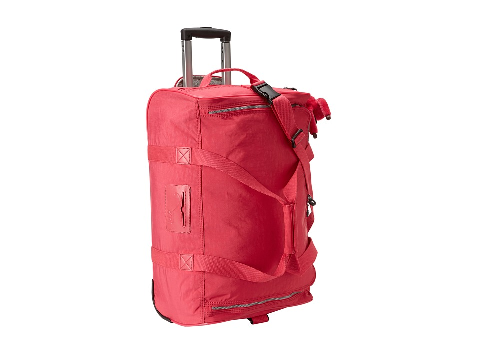 Kipling Discover Small Wheeled Luggage Duffle Vibrant Pink Duffel Bags
