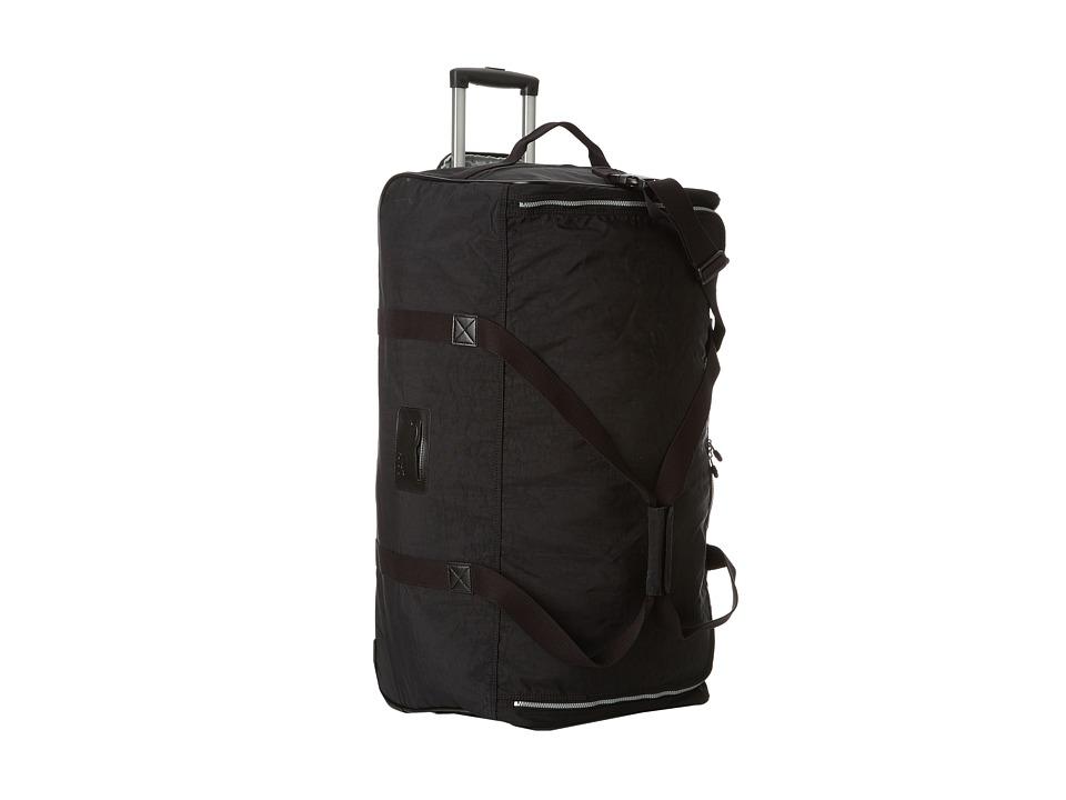 Kipling Discover Large Wheeled Luggage Duffle (Black) Duffel Bags