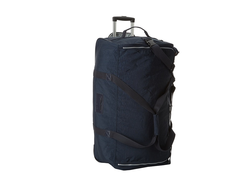 Kipling - Discover Large Wheeled Luggage Duffle (True Blue) Duffel Bags