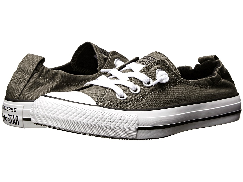 Converse Chuck Taylor All Star Shoreline Slip On Ox Charcoal Womens Slip on Shoes