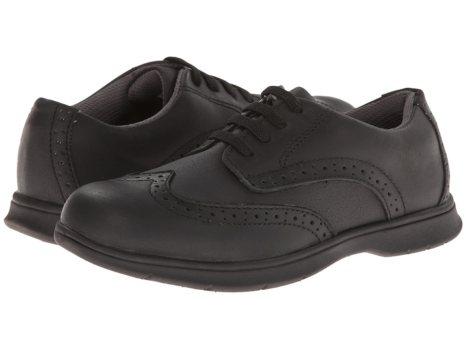 Florsheim Kids Flites Wing Ox Jr. Toddler/Little Kid/Big Kid Black Crazy Horse Boys Shoes