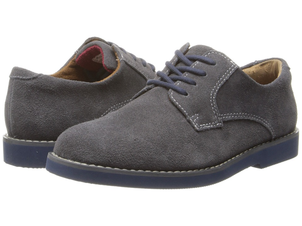 Florsheim Kids - Kearny Jr. (Toddler/Little Kid/Big Kid) (Gray Suede/Blue Bottom) Boys Shoes