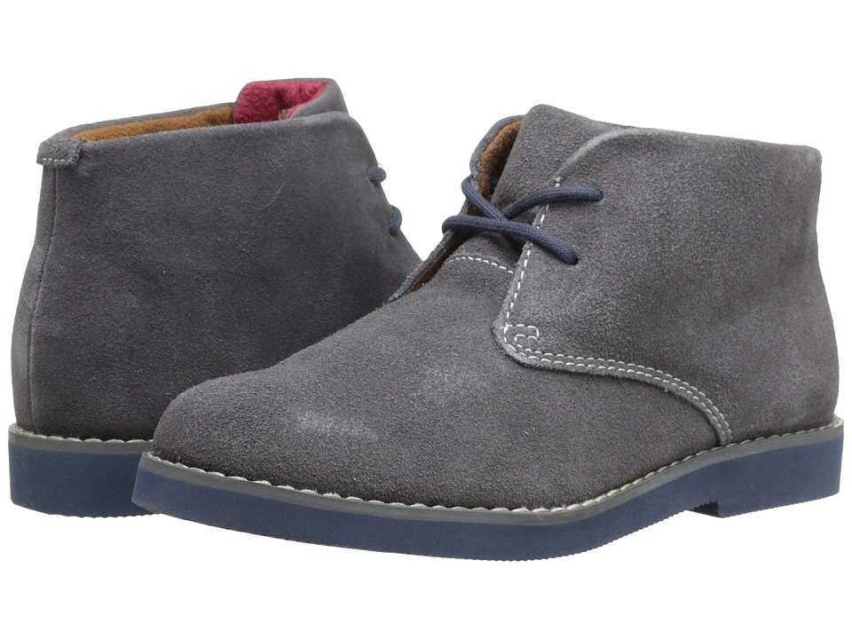 Florsheim Kids - Quinlan Jr. (Toddler/Little Kid/Big Kid) (Gray Suede/Blue Bottom) Boys Shoes