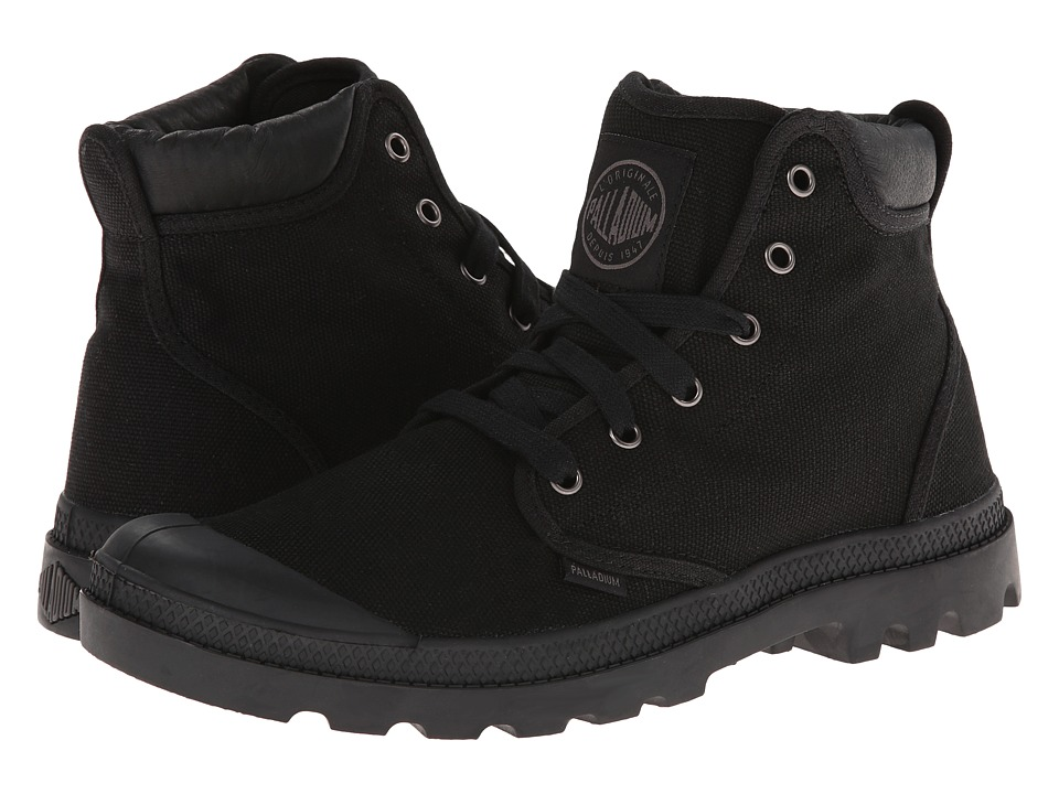 Palladium Pampa Hi Cuff Black/Metal Mens Lace up casual Shoes