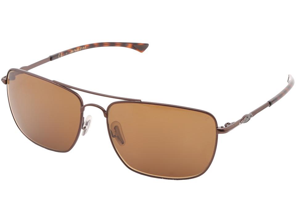 Smith Optics Nomad Matte Brown Frame/Polar Brown Chromapop Lenses Sport Sunglasses