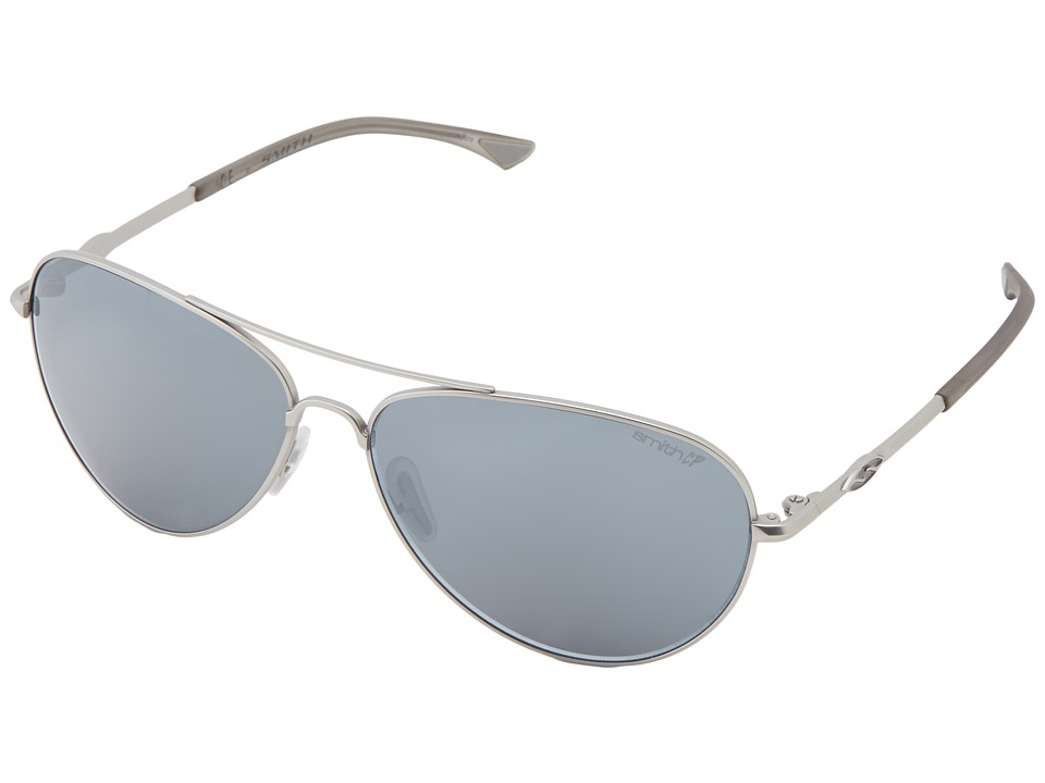 Smith Optics - Audible (Matte Silver Frame/Polar Platinum Chromapop Lenses) Sport Sunglasses