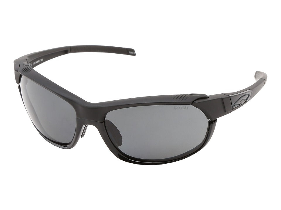 Smith Optics Pivlock Overdrive Black Frame/Polar Gray/Ignitor/Clear Carbonic TLT Lenses Sport Sunglasses