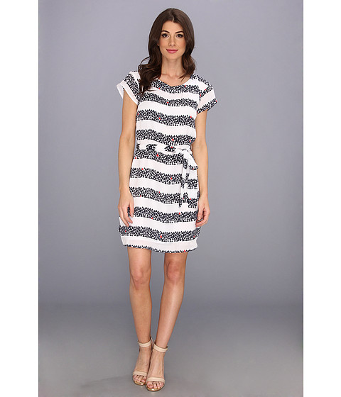 Hatley - Drop Shoulder Dress (Sailboat Stripe) - Apparel