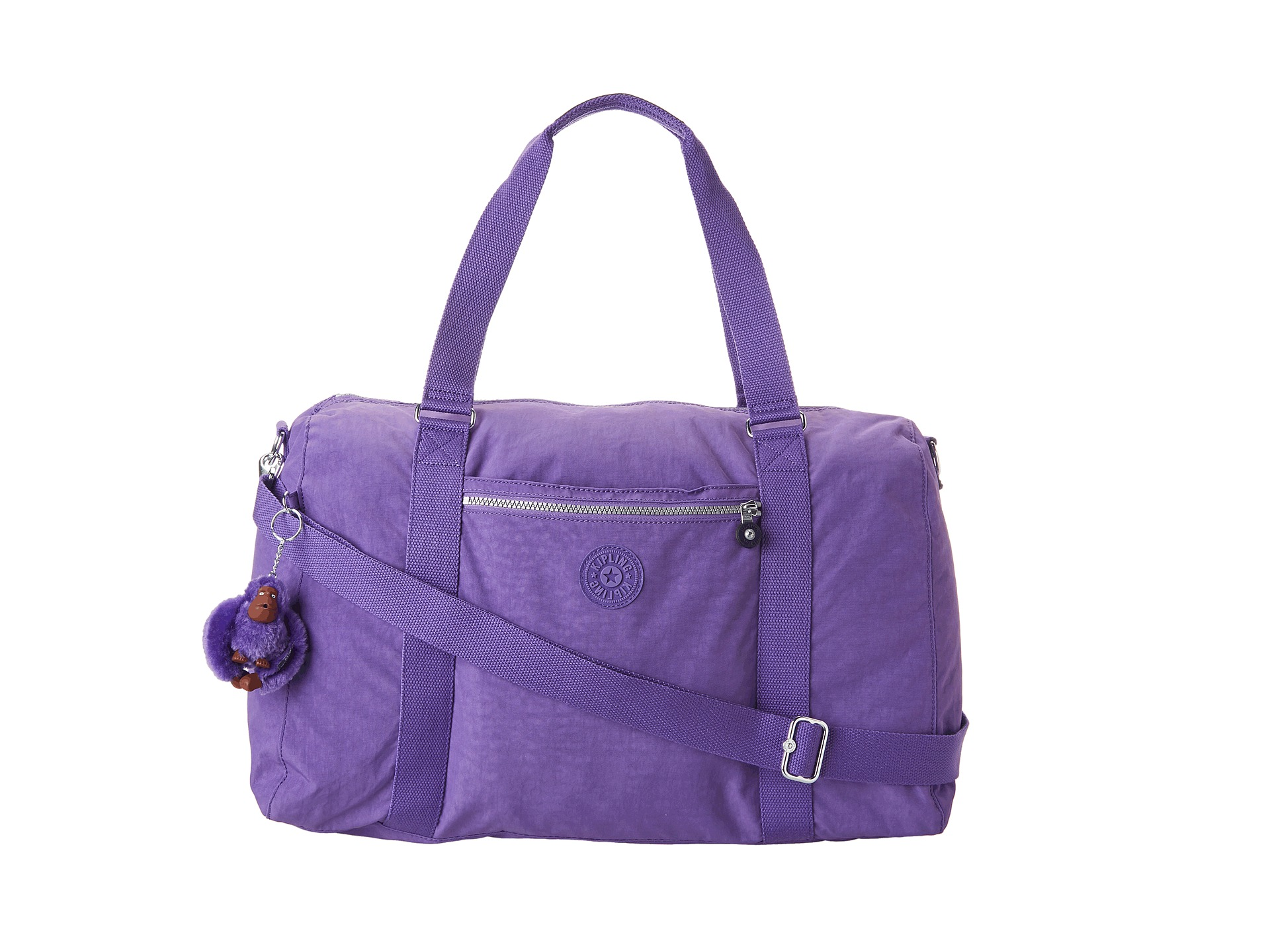 kipling itska soft duffel bag purple shipped free