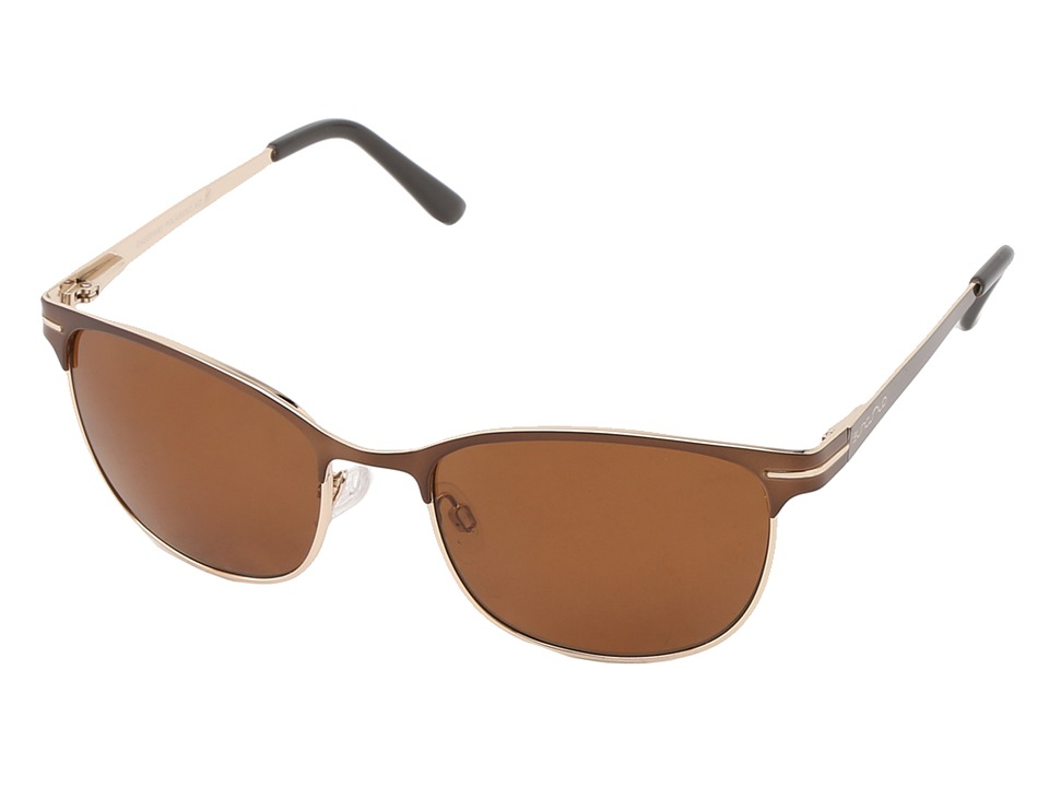 SunCloud Polarized Optics Causeway Brown Frame/Brown Polarized Polycarbonate Lenses Fashion Sunglasses