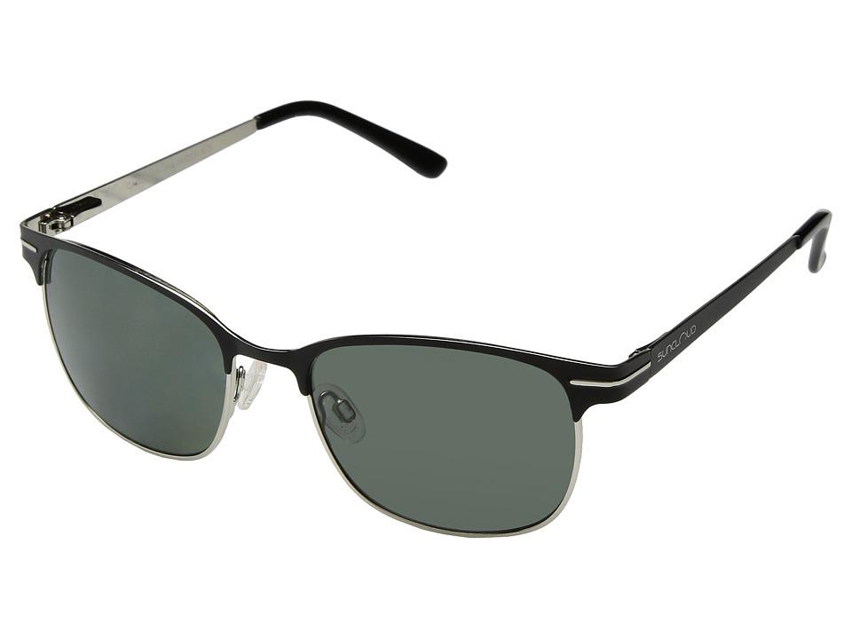 SunCloud Polarized Optics Causeway Black Frame/Gray Polarized Polycarbonate Lenses Fashion Sunglasses