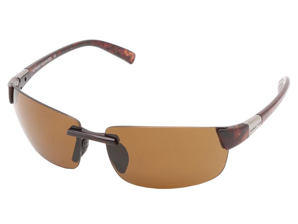 SunCloud Polarized Optics Getaway Tortoise Frame/Brown Polarized Polycarbonate Lenses Fashion Sunglasses