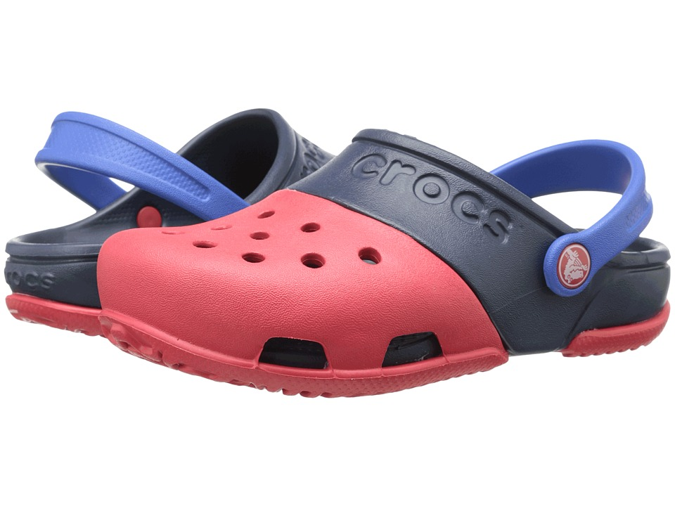 Crocs Kids Electro II Clog Toddler/Little Kid Red/Navy Kids Shoes