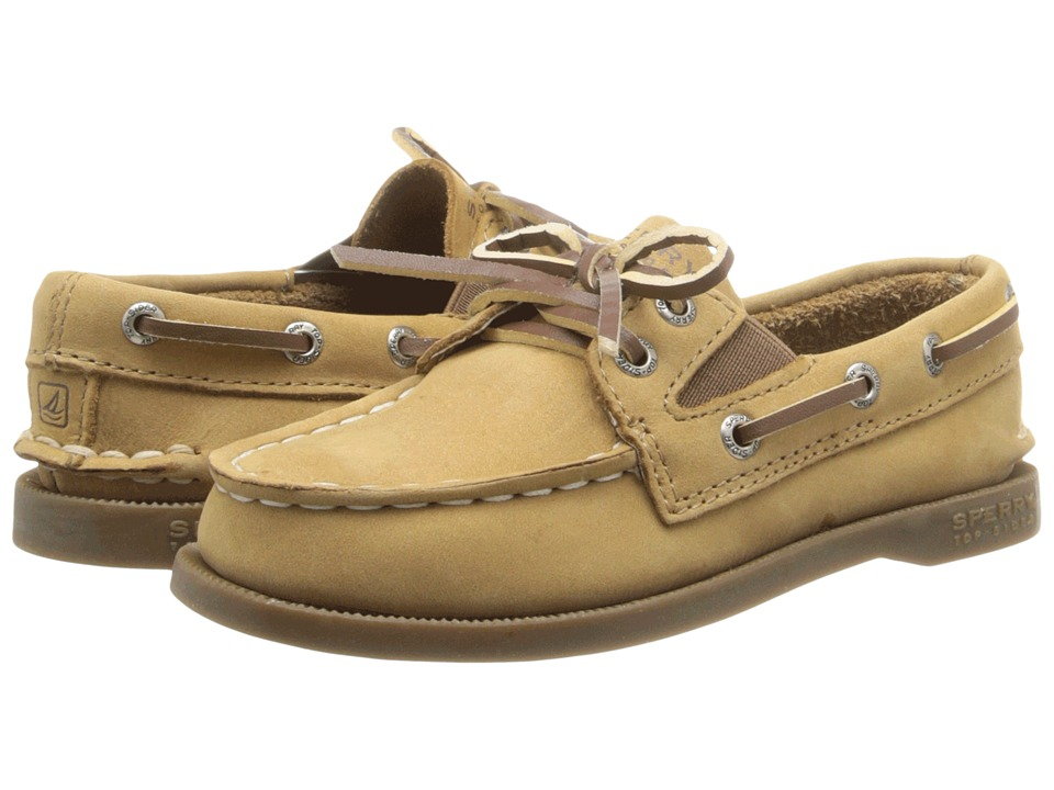 Sperry Kids A/O Slip On (Toddler/Little Kids) (Sahara Leather) Kid's Shoes
