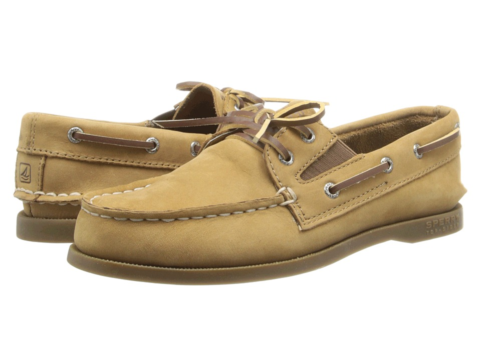 Sperry Kids A/O Slip On (Little Kid/Big Kid) (Sahara Leather) Kid's Shoes