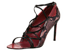 Delman - Jojo (Red Printed Python/Black Calf) - Footwear