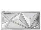 BCBGMAXAZRIA - Pyramid Zip Top Clutch (Silver) - Bags and Luggage