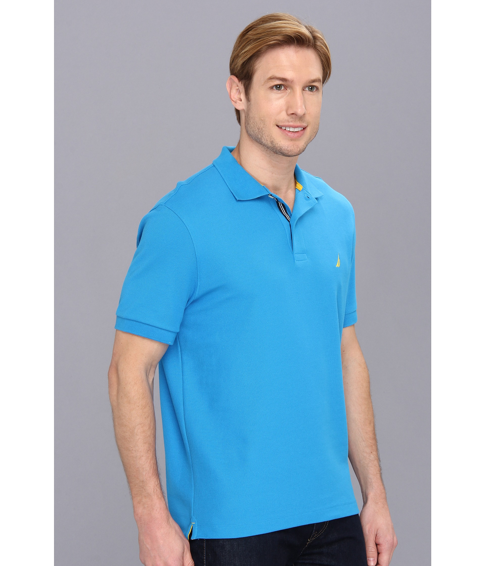 Nautica s s performance deck solid polo shirt shipped for Nautica shirts on sale