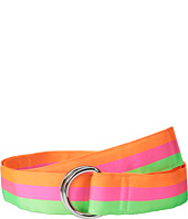 Vineyard Vines - Tri Stripe Neon Grosgrain Belt