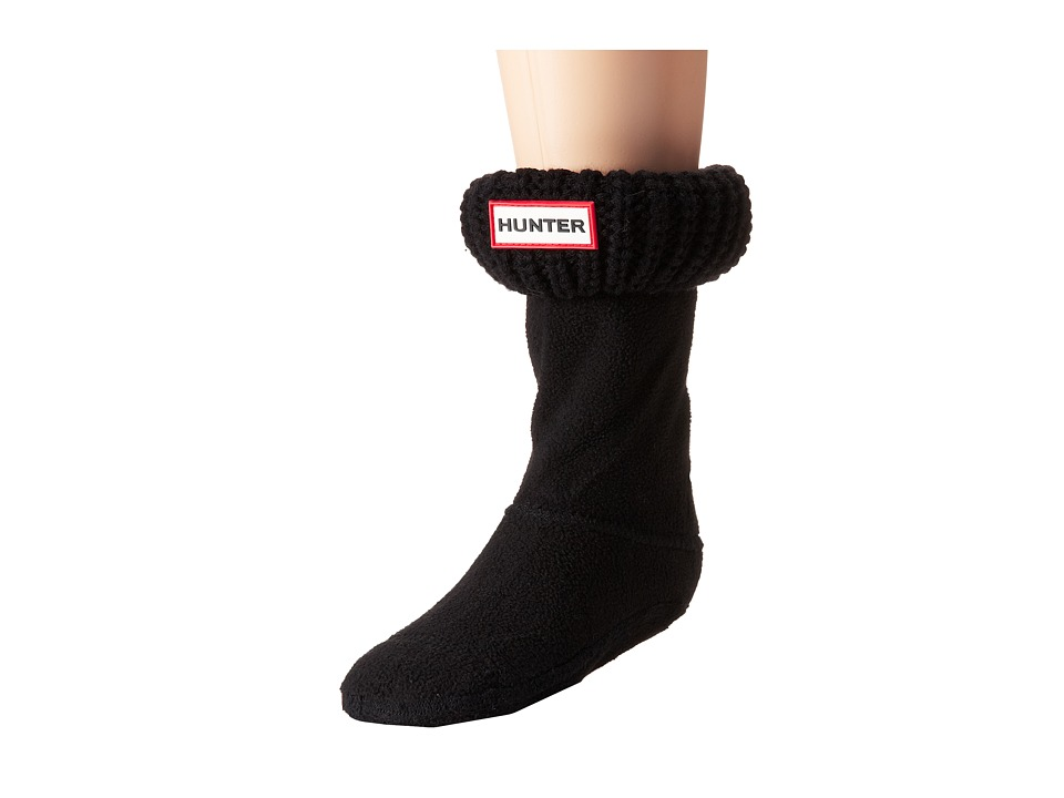 Hunter Kids - Half Cardigan Boot Sock (Toddler/Little Kid/Big Kid) (Black) Kids Shoes