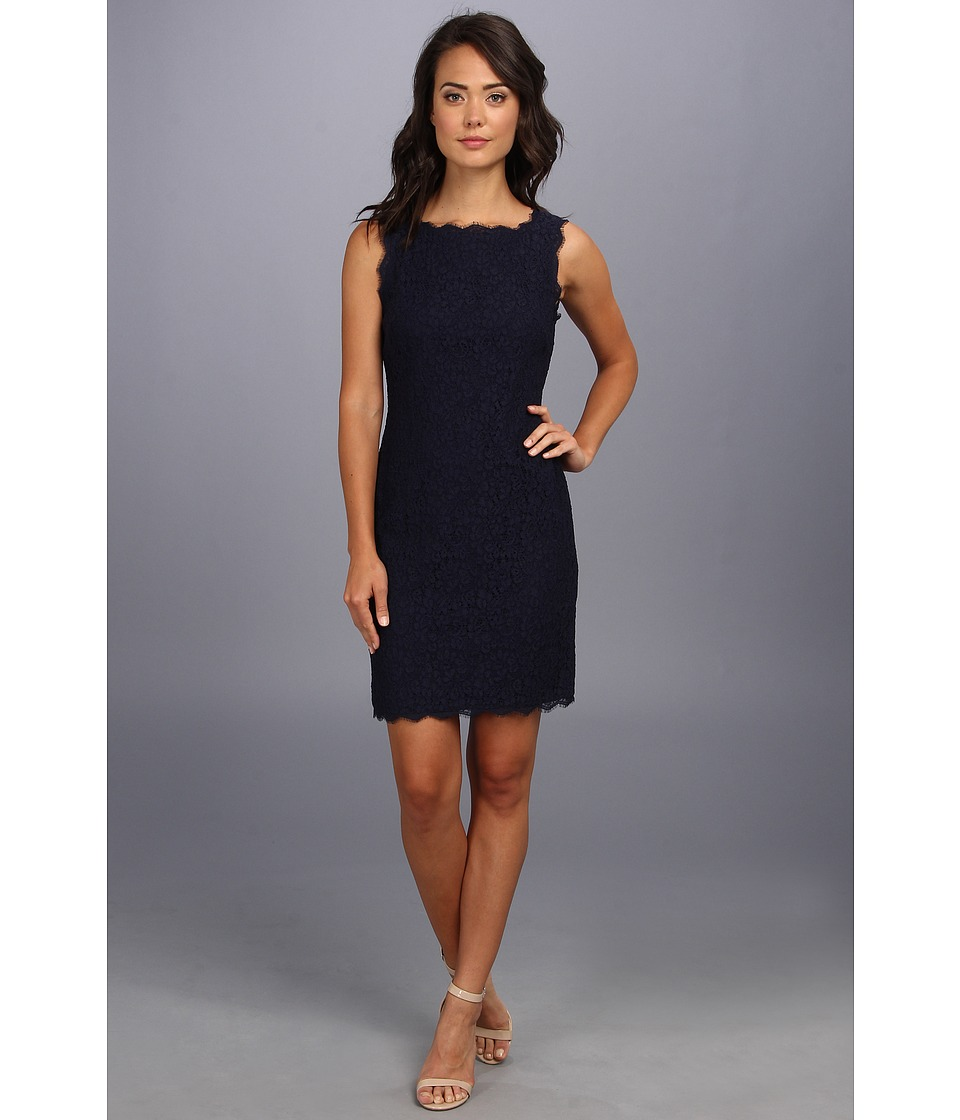 Adrianna Papell - Sleeveless Dress (Navy) Womens Dress