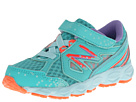 New Balance Kids 750v3 Infant, Toddler Teal, Coral Shoes