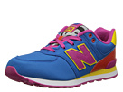 New Balance Kids KL574 Big Kid Blue, Orange 14 Shoes