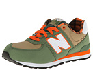 New Balance Kids KL574 Big Kid Green Shoes