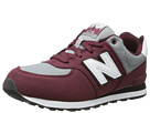 New Balance Kids KL574 Big Kid Burgundy Shoes