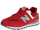 New Balance Kids KL574 Big Kid Red Shoes