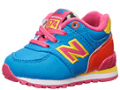 New Balance Kids 574 Infant, Toddler Blue, Orange Shoes