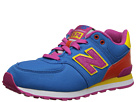 New Balance Kids KL574 Little Kid Blue, Orange 14 Shoes