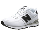 New Balance Kids KL574 Little Kid White, Black 14 Shoes