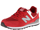 New Balance Kids KL574 Little Kid Red 14 Shoes