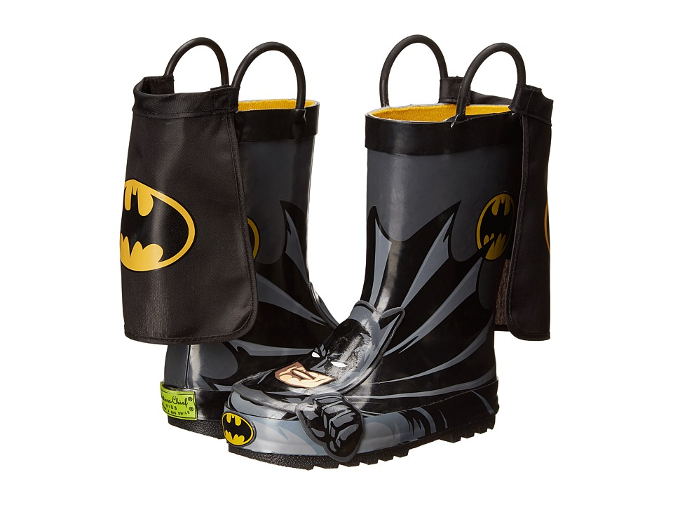 Western Chief Kids Batman Everlasting Rain Boot Toddler/Little Kid/Big Kid Black Boys Shoes