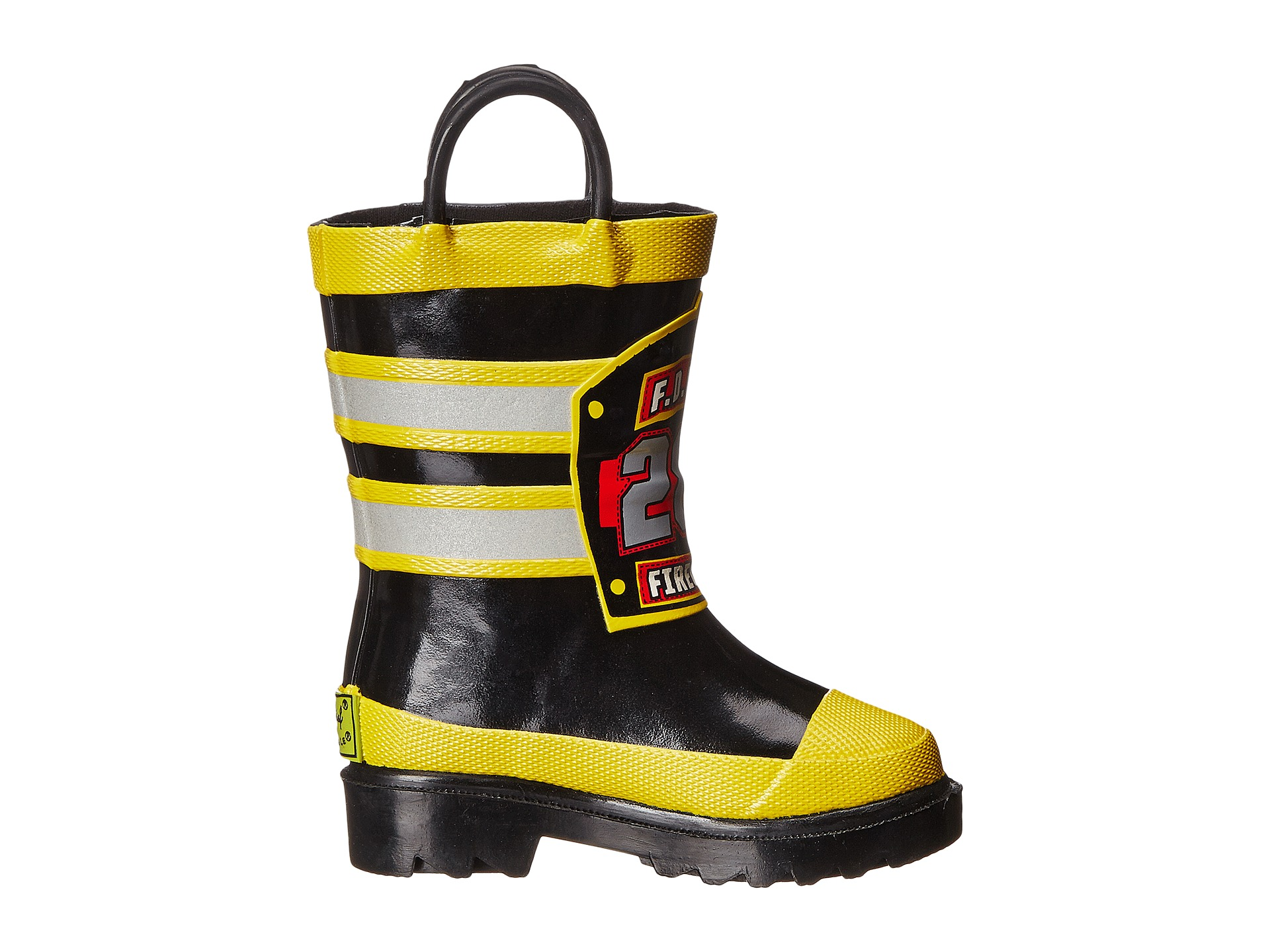 Western Chief Kids F.D.U.S.A. Firechief Rain Boot (Toddler/Little ...