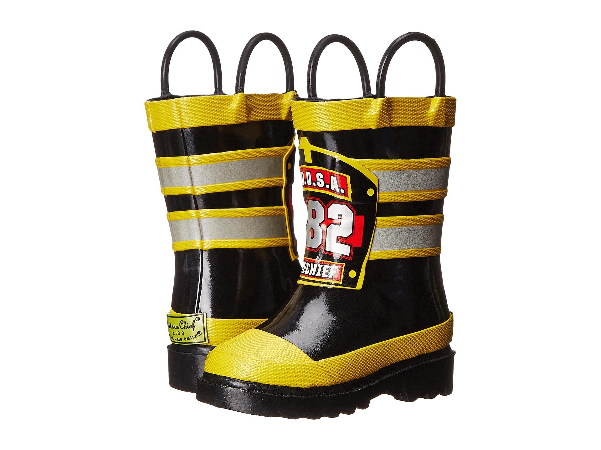 Western Chief Kids F.D.U.S.A. Firechief Rain Boot (Toddler/Little ...