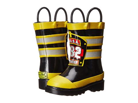 Western Chief Kids F.D.U.S.A. Firechief Rain Boot (Toddler/Little Kid/Big Kid) - Black