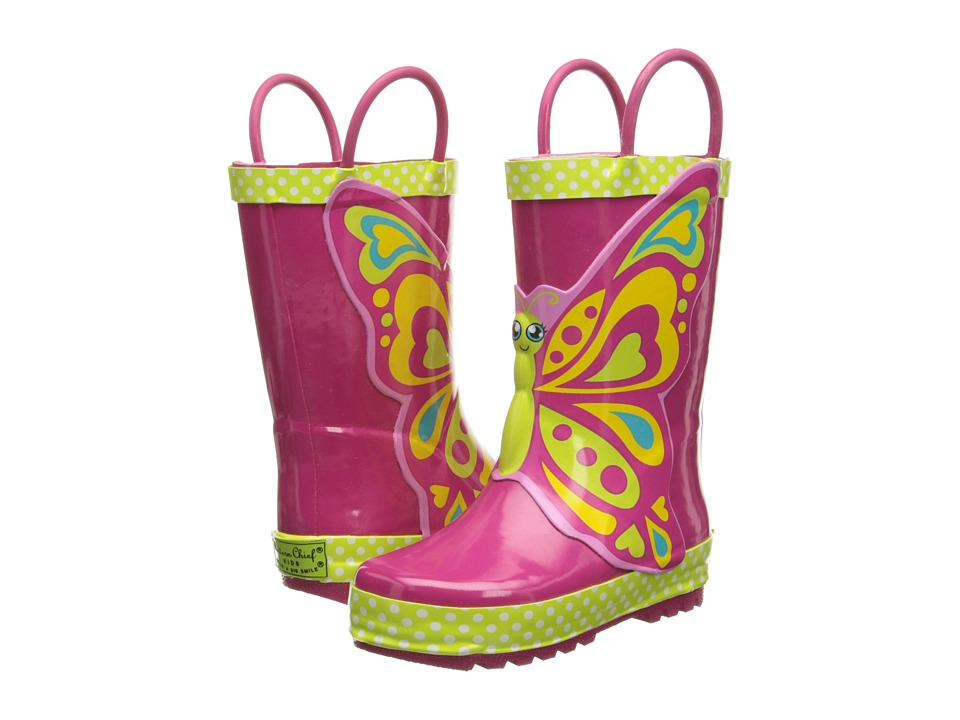 Western Chief Kids Butterfly Star Rain Boot Toddler/Little Kid/Big Kid Pink Girls Shoes