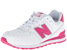 New Balance Kids 574 Big Kid White, Pink Shoes