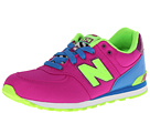 New Balance Kids 574 Big Kid Poison Berry, Blue Shoes