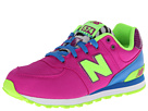 New Balance Kids 574 Little Kid Poison Berry, Blue Shoes