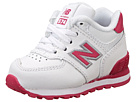 New Balance Kids 574 Infant, Toddler White, Pink Shoes