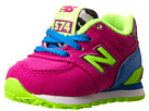 New Balance Kids 574 Infant, Toddler Poison Berry, Blue Shoes
